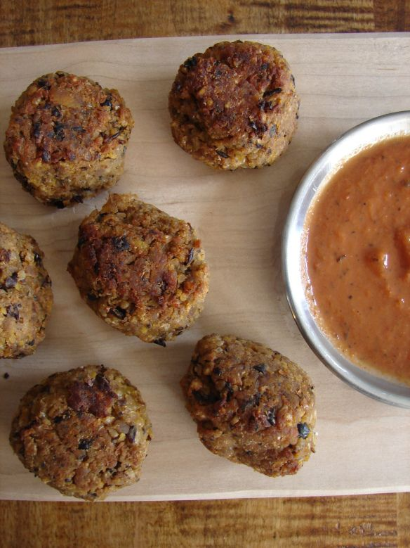 Out of the Ordinary-Roasted butternut and black bean kofta