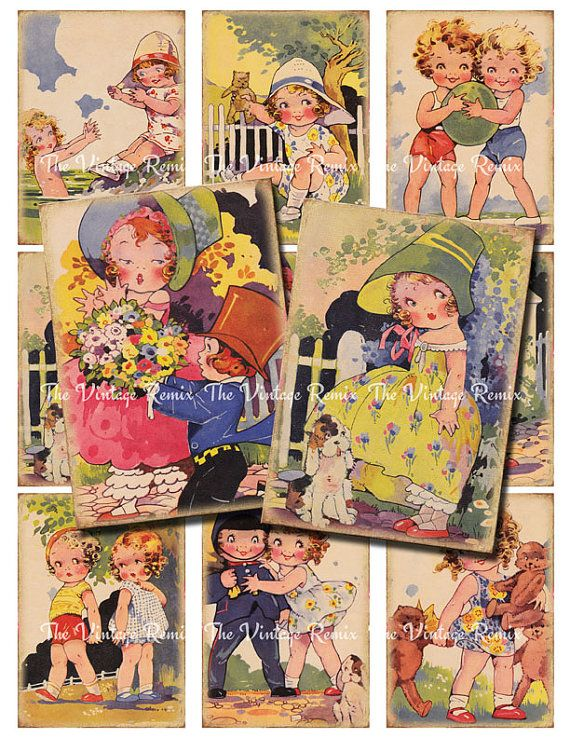 Agnes Richardson  INSTANT DOWNLOAD Printable Vintage Girls by TheVintageRemix, $3.75