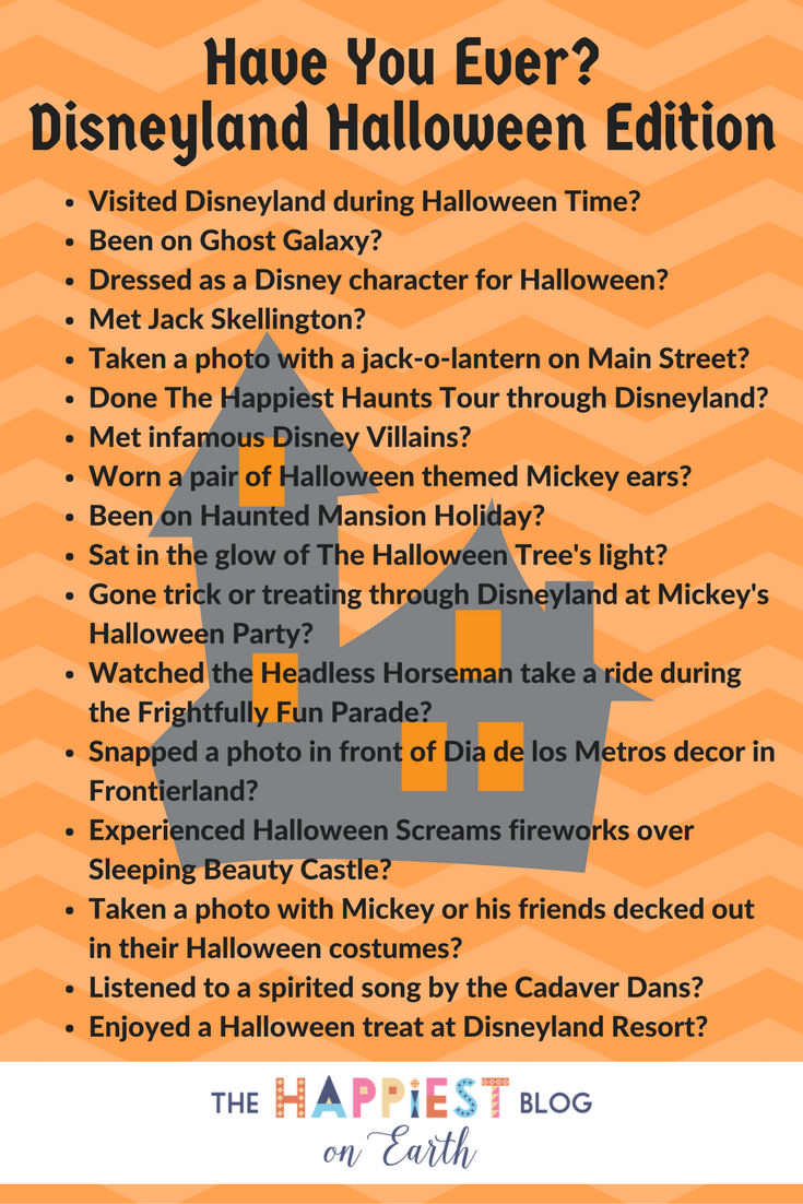 Have you ever? Disneyland Halloween Edition