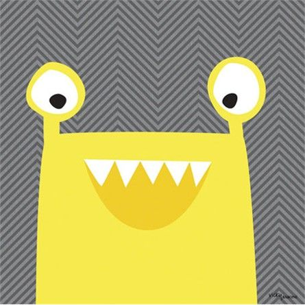 Monster Mugs in Yellow Canvas Reproduction