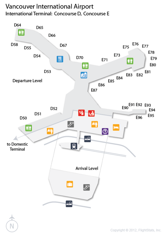 Yvr Airport Map YVR) Vancouver International Airport Terminal Map | airports