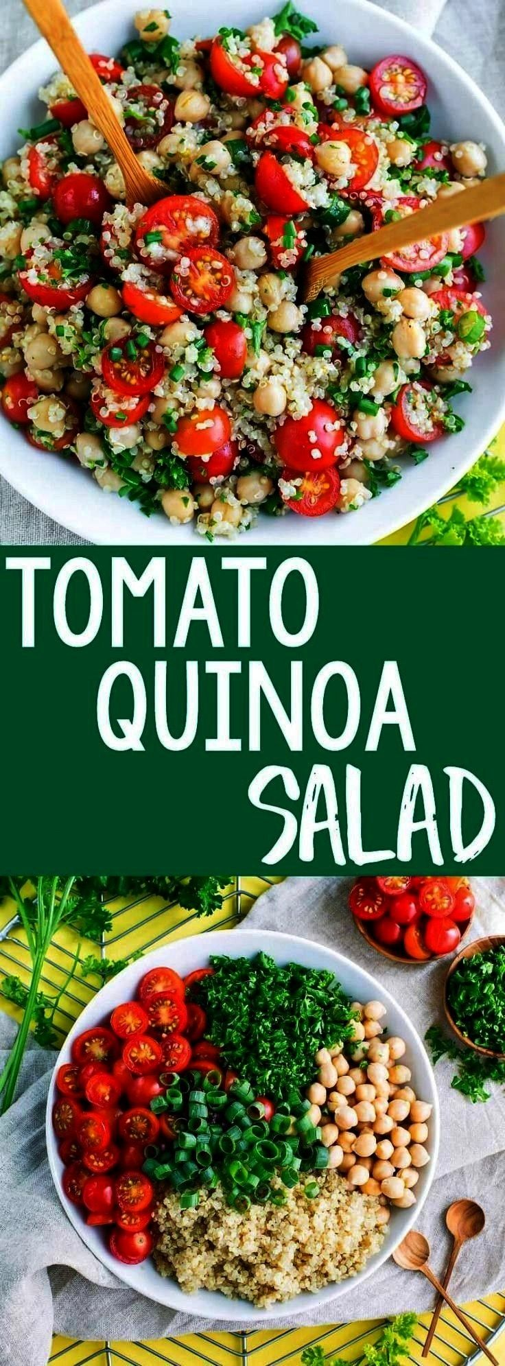 add another tasty quinoa recipe to our meal prep game! This Tomato Quinoa Salad is fast, flavorful,