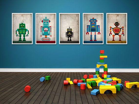 Robots Poster Set | Chambre garcon et Chambres