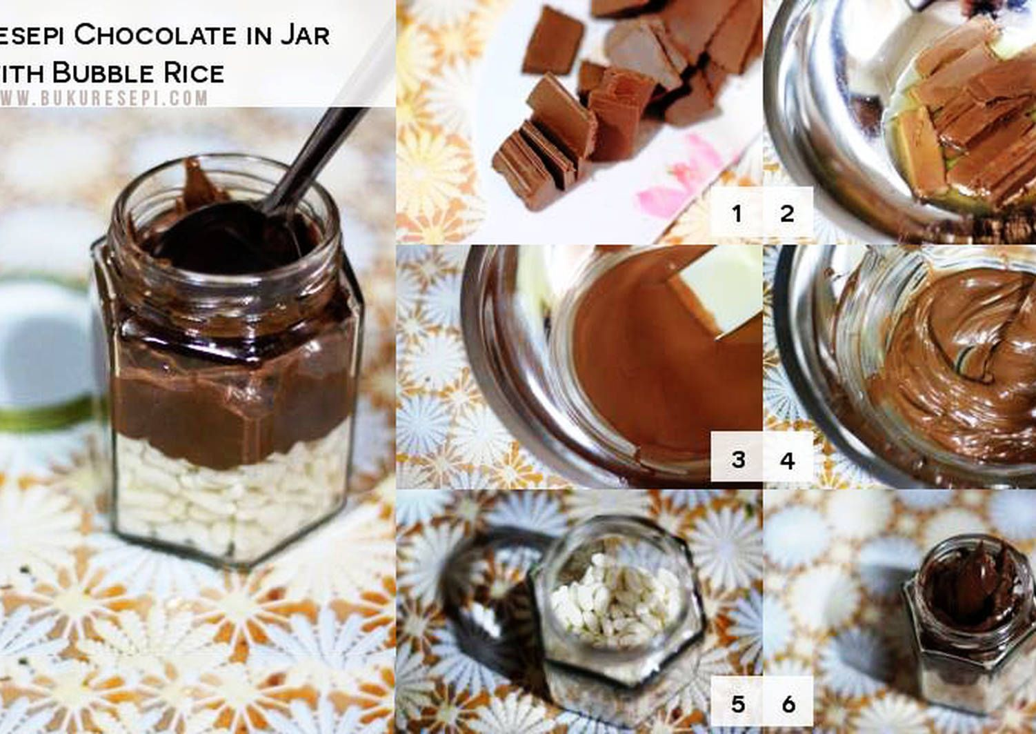 Chocolate In Jar With Bubble Rice Recipe By Orked Recipe Chocolate Jar Choco Jar Recipes