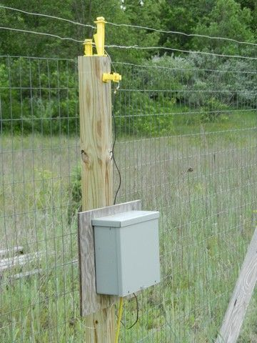 electric fence for garden. Electric Fence Utility Box, Controller For Garden