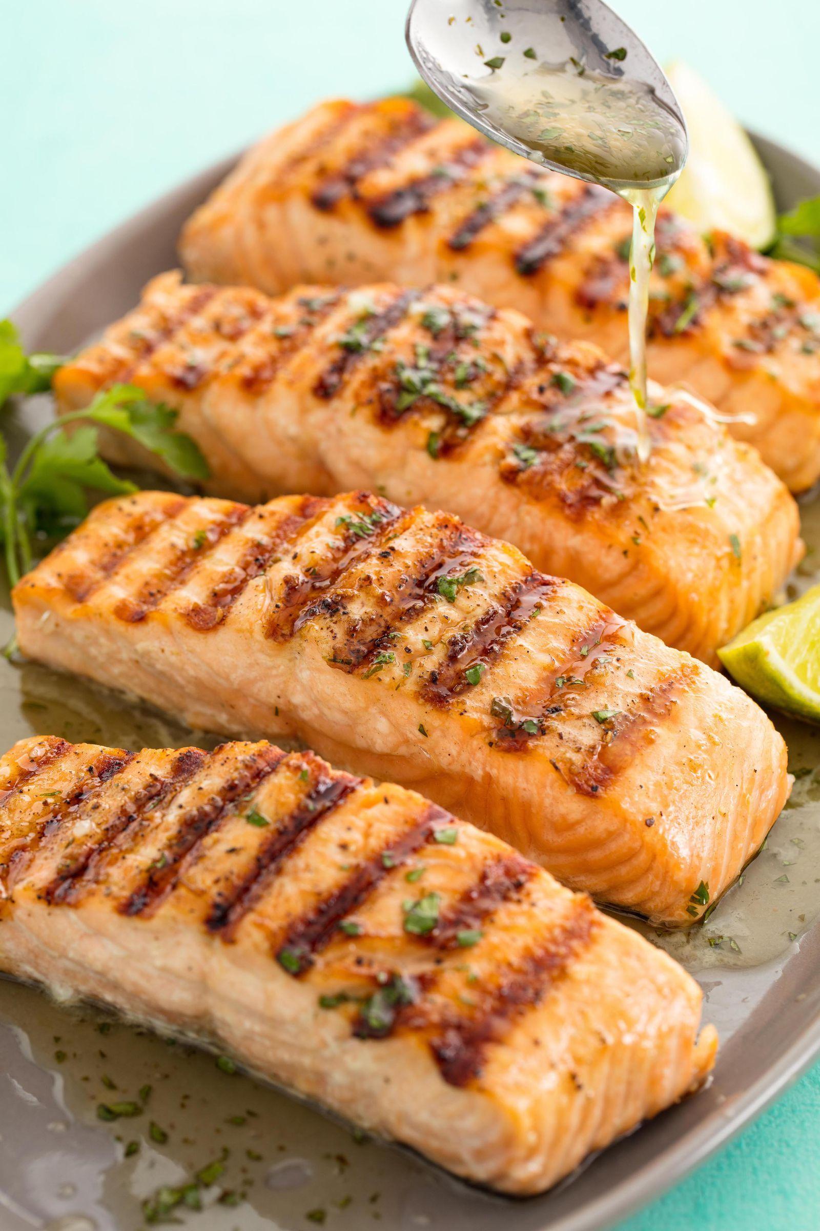 Cilantro Lime Grilled Salmon Recipe Grilled Salmon With Cilantro
