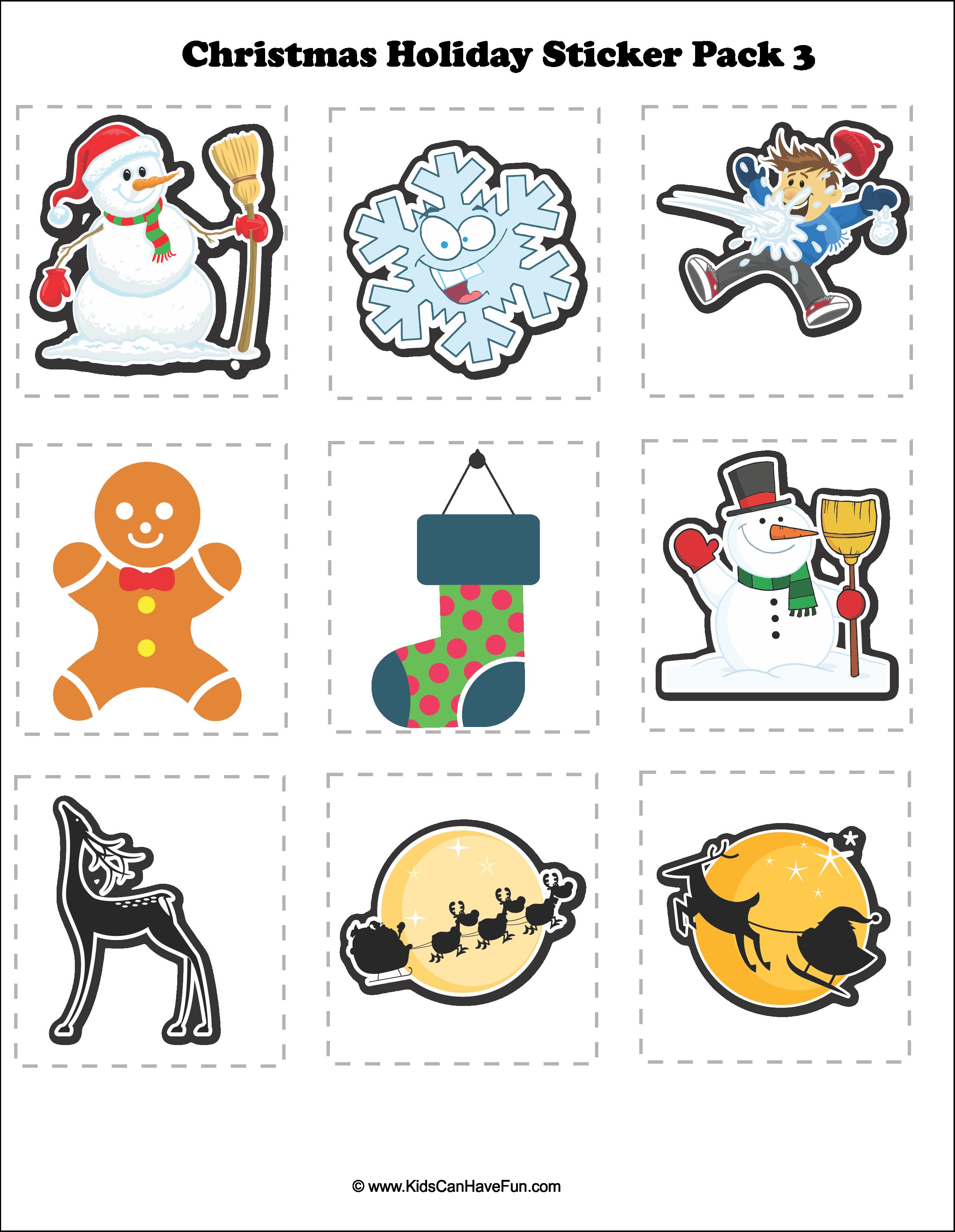 Christmas Sticker Pack 3 Dscanhavefun