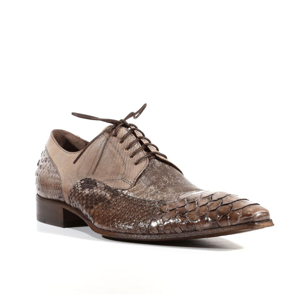 04f9aa3b81bc Jo Ghost Mens Shoes Pitone Crust Tejus Fango Lizard Python Oxfords ...