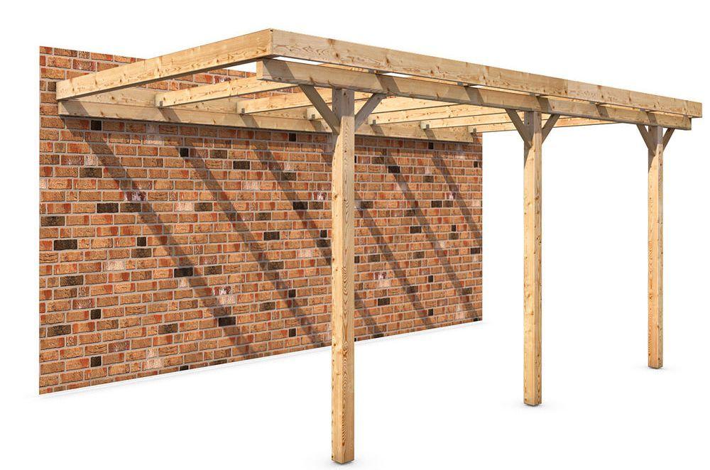 Een houten afdak in de tuin bouwen met behulp van prefab bouwpakketten en een handleiding kun - Een houten boom maken ...