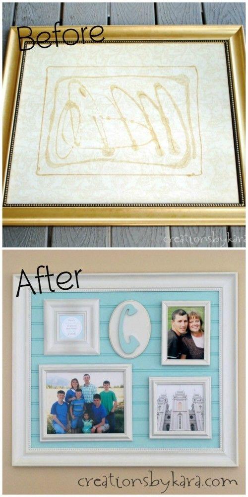 DIY Beadboard Frame Collage Tutorial | DIY Ideas | Pinterest ...