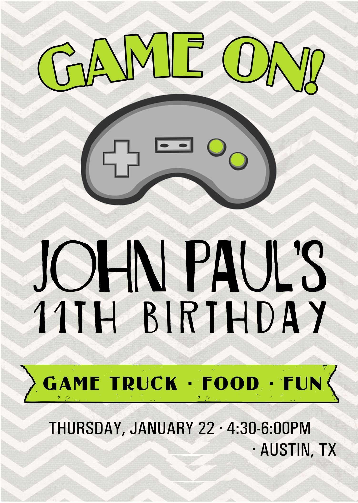 John Paul Inv Blog Team Whitaker Video Games Birthday Party Video Games Birthday Game Lovers