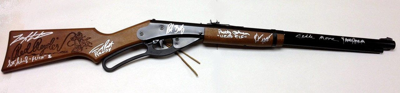 a christmas story cast of 8 signed official daisy red ryder bb gun what a special christmas present