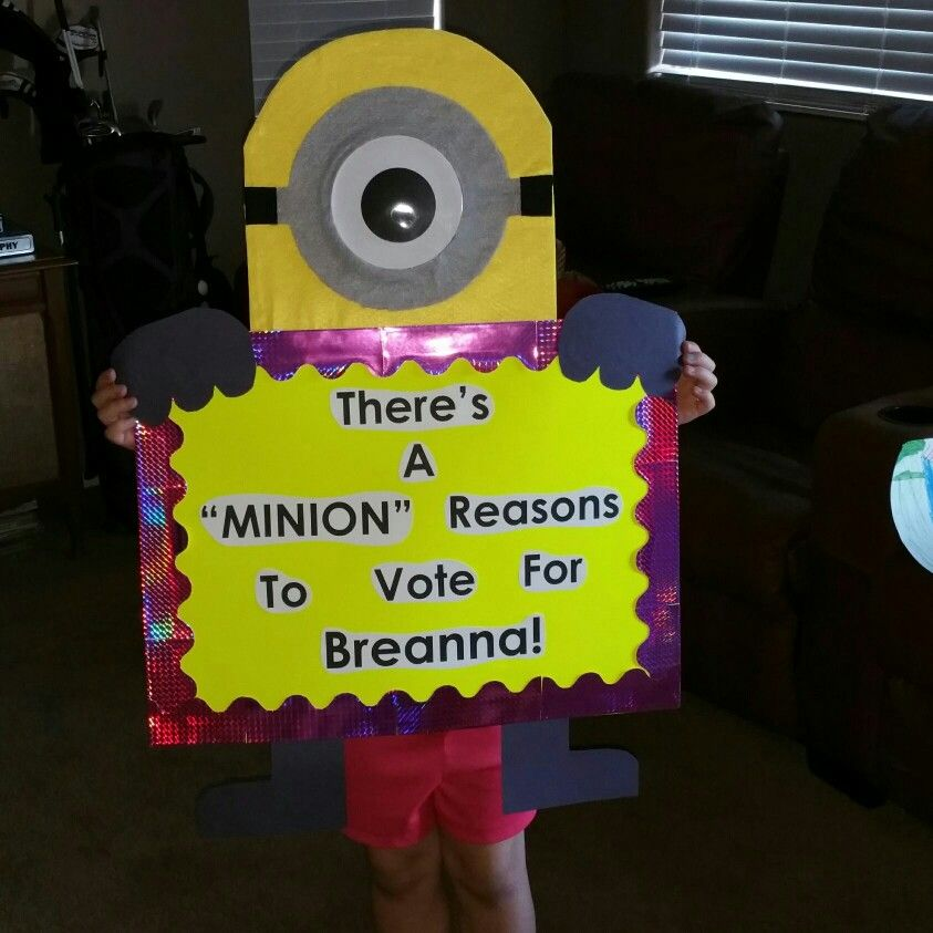 Minion theme student council poster | student council ...
