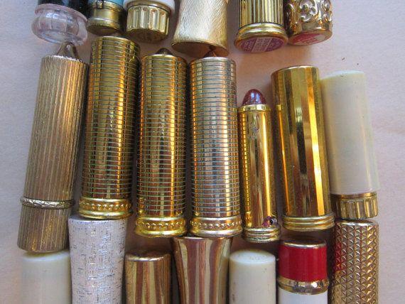 f5e4f009238 20 vintage lipsticks - lipstick tubes - Revlon, Avon, Marian Bialac ...