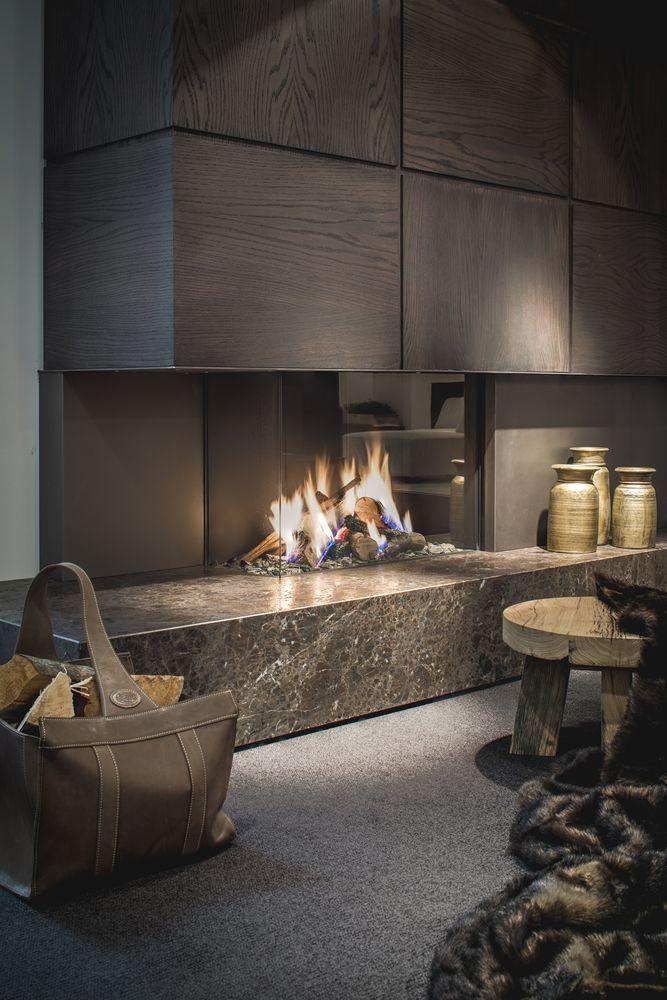 Wohnzimmer #Design #mit #luxe #offen #haard #van # Daniëls #Openhaarden #   #interior #design #   #Design #Möbel #   #design #zubehör #   # High.design #modernfireplaceideas