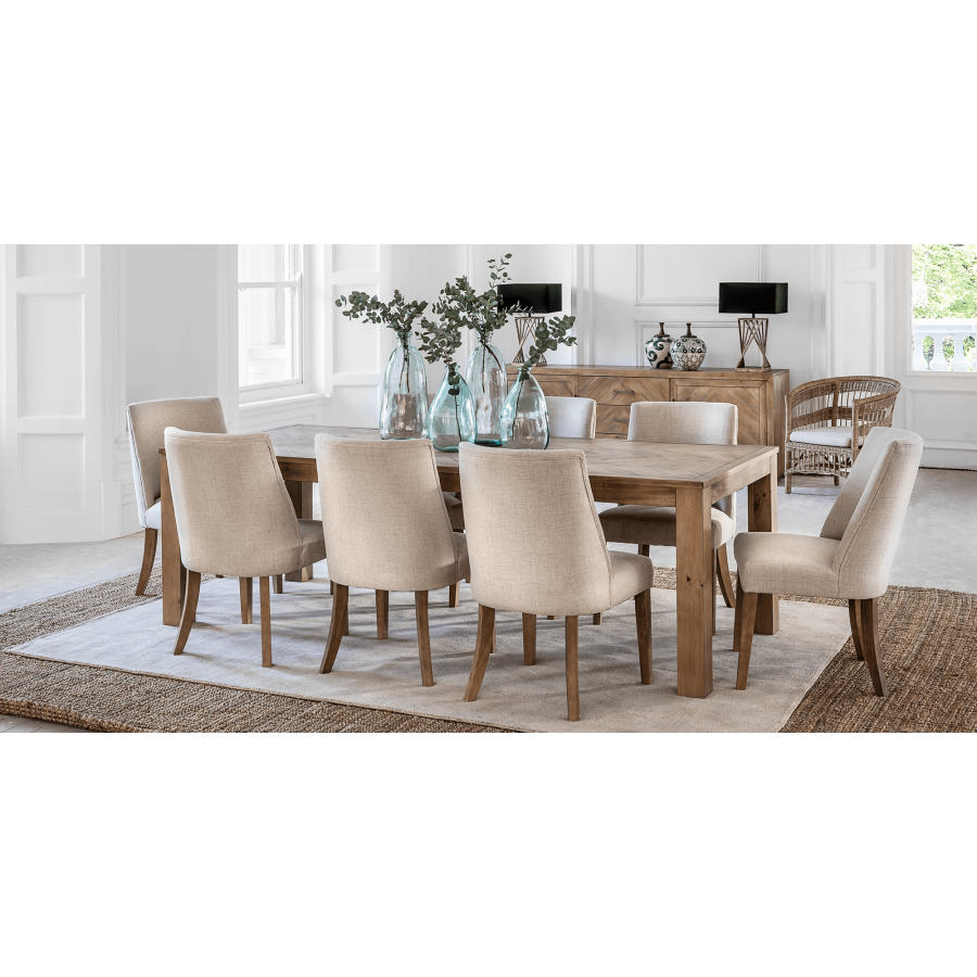 The Parker Dining Table Natural 2 4m Is Made From Quality