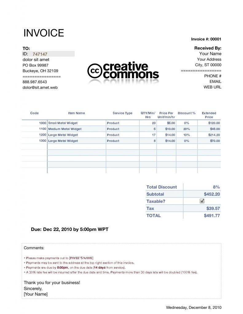 Invoice Template Numbers Invoice Example Regarding Ipad Invoice Template Best Template Ideas Invoice Template Invoice Example Business Template