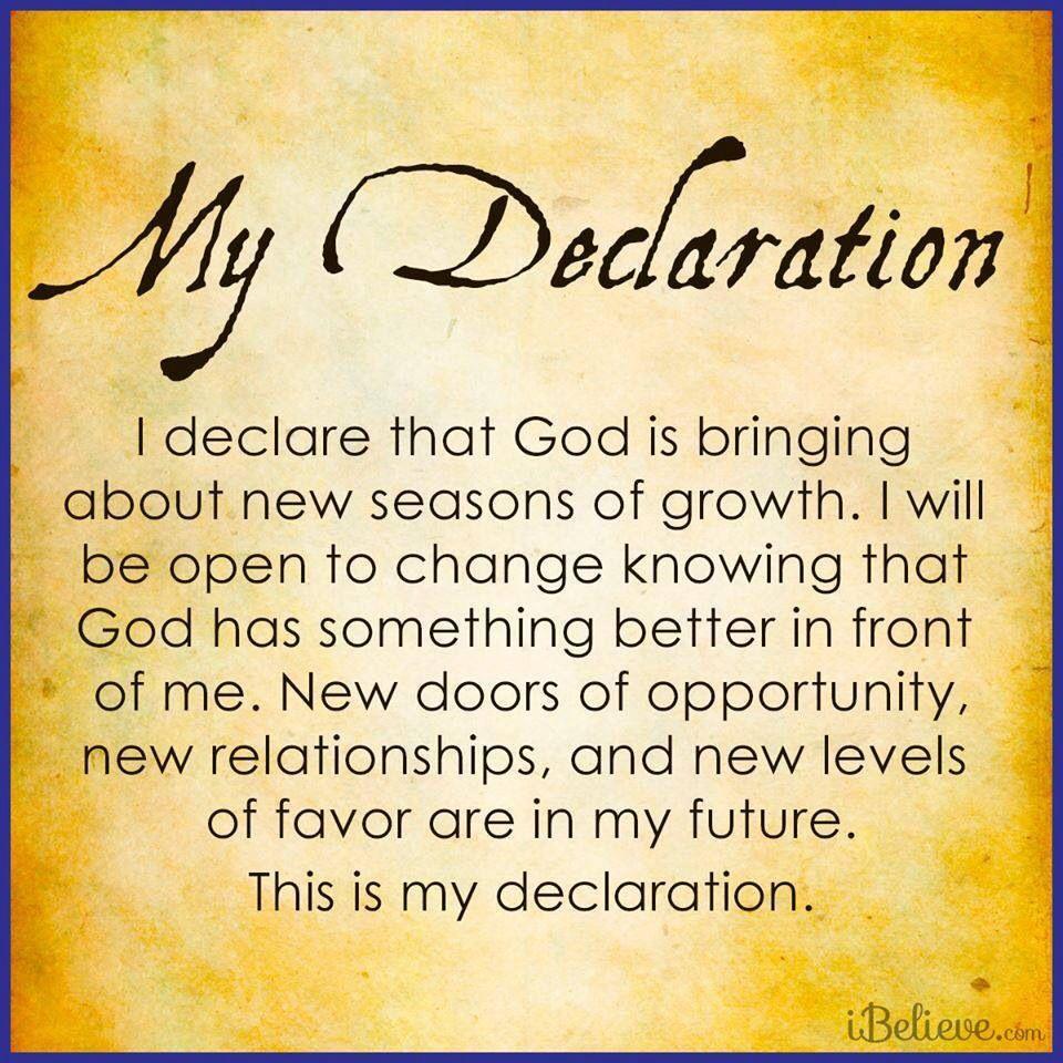 "Todays Prayer Quotes My Declaration  Joel Osteen  ""i Declare""  Christian Quotes"