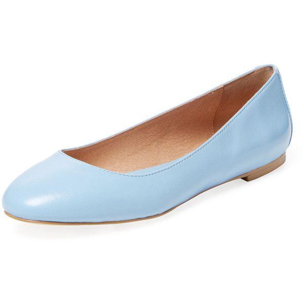 Blue leather flats, Blue ballet shoes