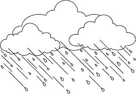 Bulut Boyama Ve Yagmur Damlasi Boyama Sayfasi 3 Bulutlar Cizim