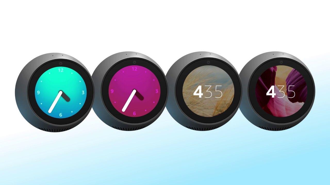 How to change amazon echo spot clock face clock face