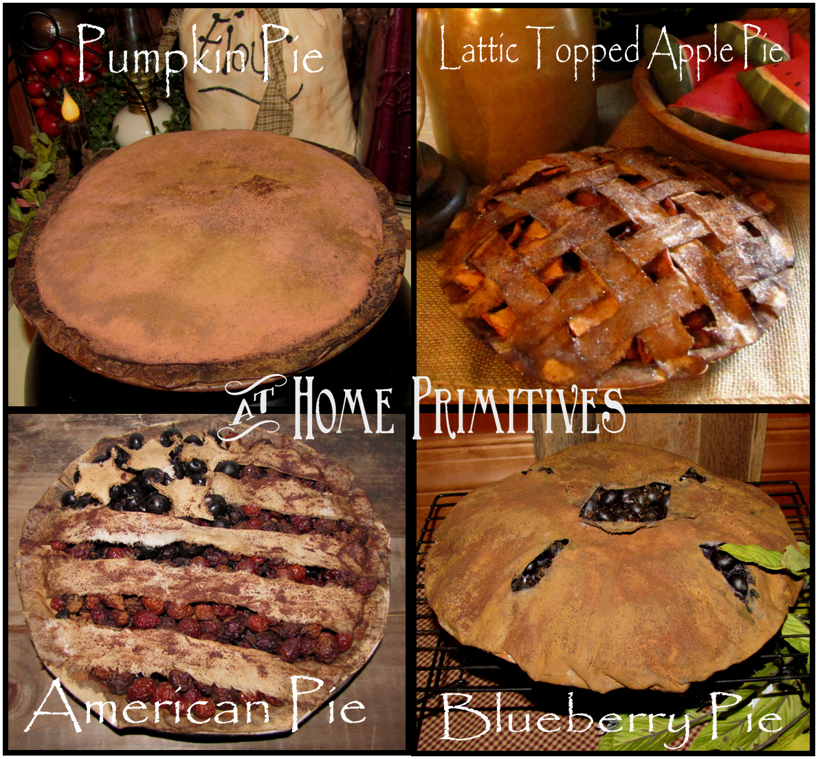 Dolls House Food Pumpkin Pie-par Fran