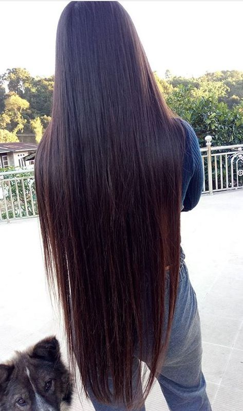 Straightened Waist Length Natural Hair