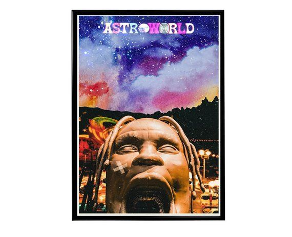 2b3a29b64cd8 Custom Travis Scott Astroworld Park Poster, Hypebeast Poster, Music Posters,  Hip Hop Wall Art, Hipst