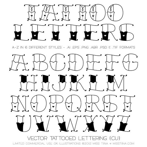 NEW Font Tattooed Letters Valentines Goodies