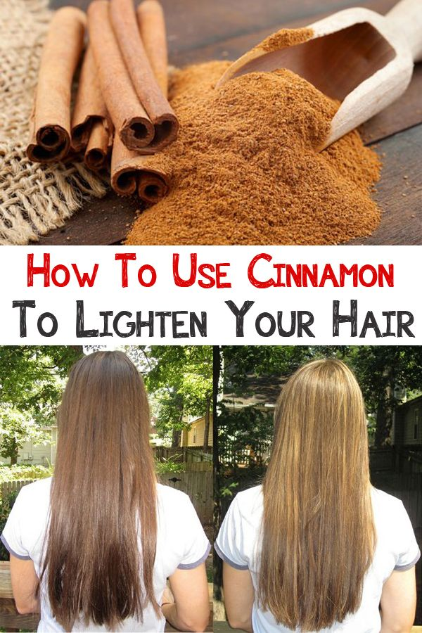 How To Use Cinnamon To Lighten Your Hair Peinados Pinterest