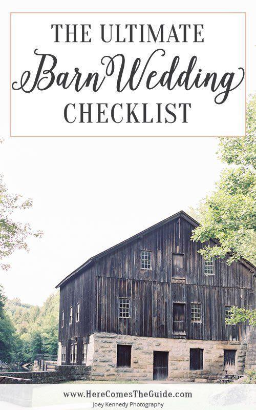 The Ultimate Barn Wedding Checklist #barnweddings
