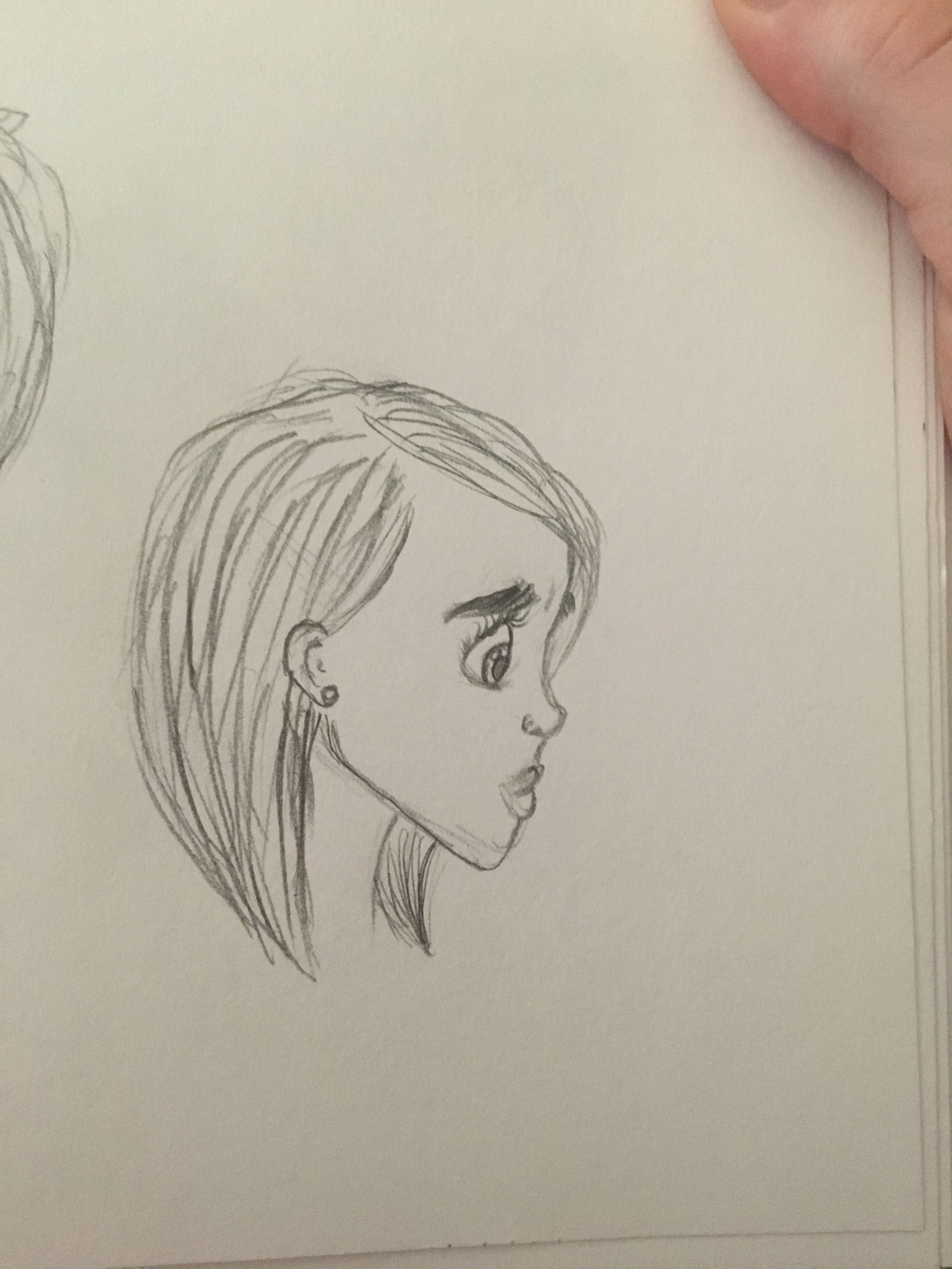 Line Drawing Cartoon Face : Profile sketches. cartoon disney style. drawing