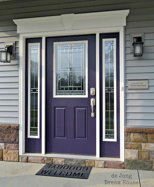 Our Purple Door Entry Door Colors Purple Front Doors Purple Door