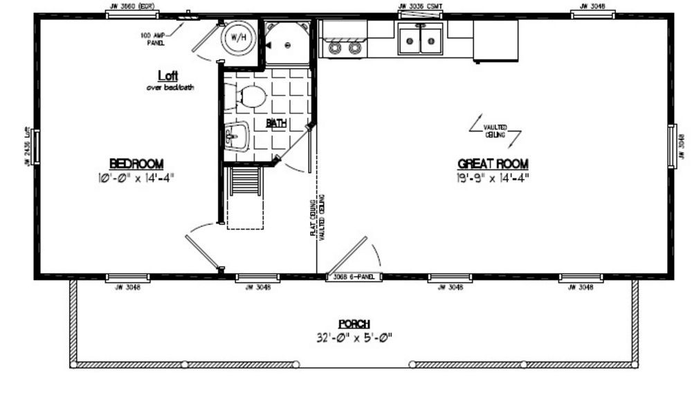 18 39 by 15 39 cabin floor plans google search addition in for Cabin addition floor plans
