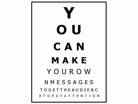 Add Your Own Messages To The Opticians Chart  Just Neat Pictures
