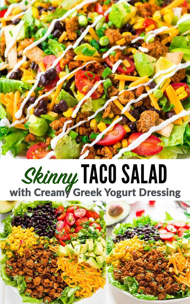 Photo of This recipe with thin taco salad made from ground turkey is my …