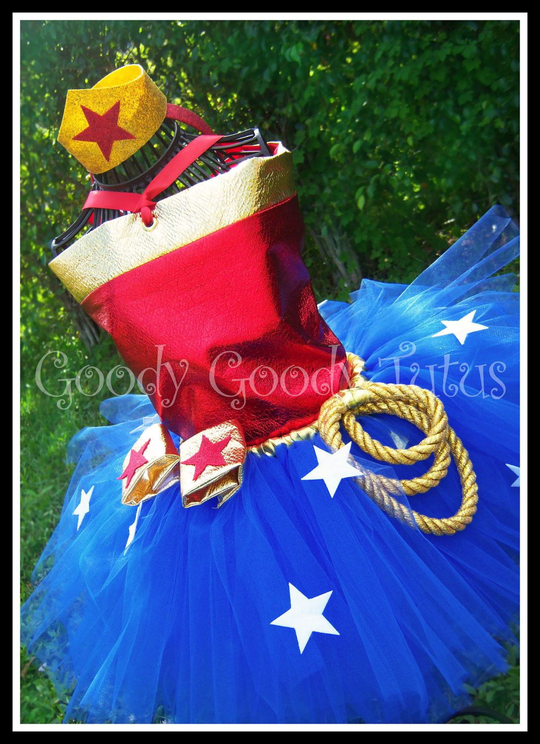 """i """"Wonder"""" if I could make one of these with variations for a Halloween costume!  I love the tutu and accessories!"""