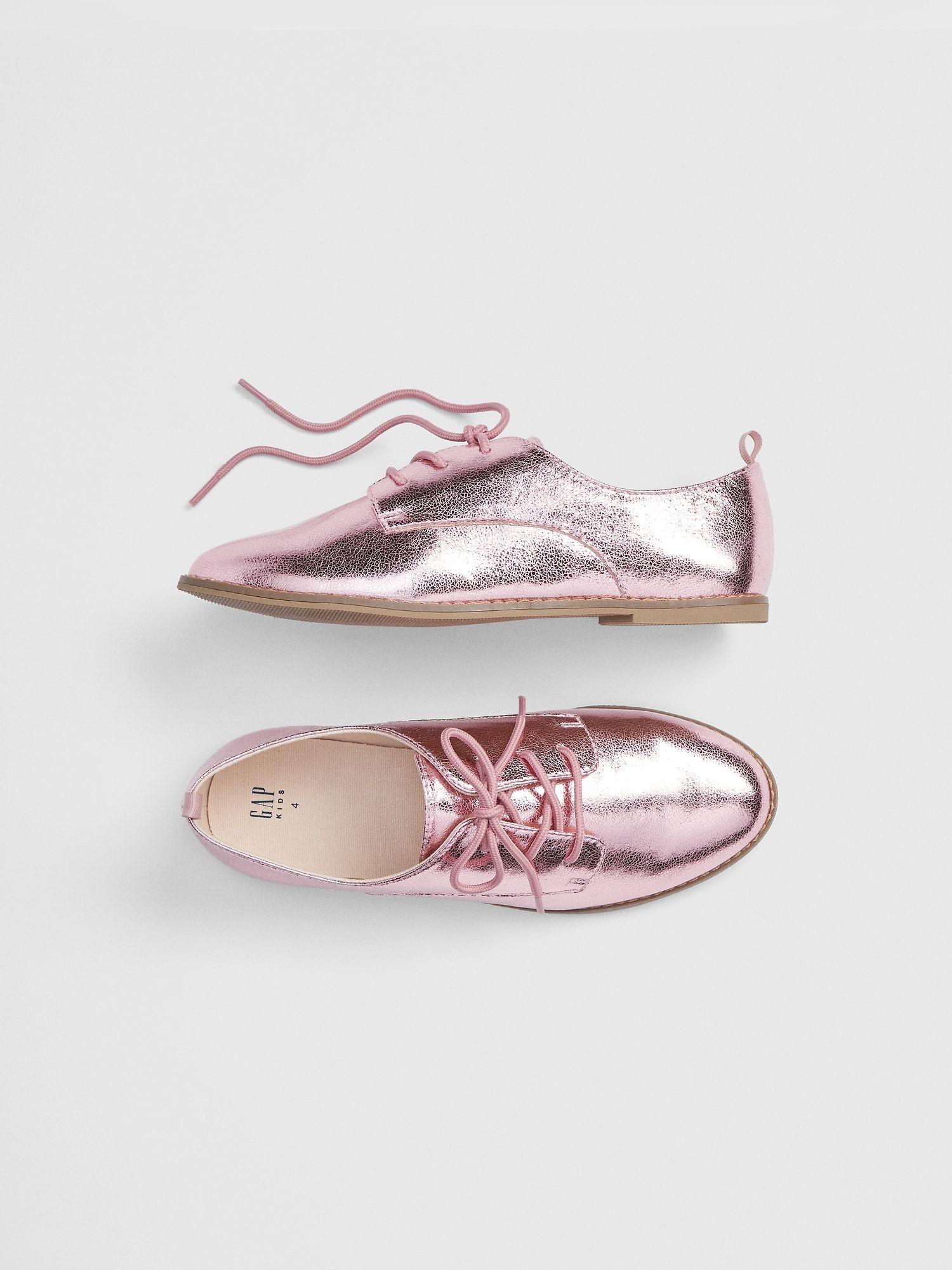Metallic oxford shoes, Metallic oxfords