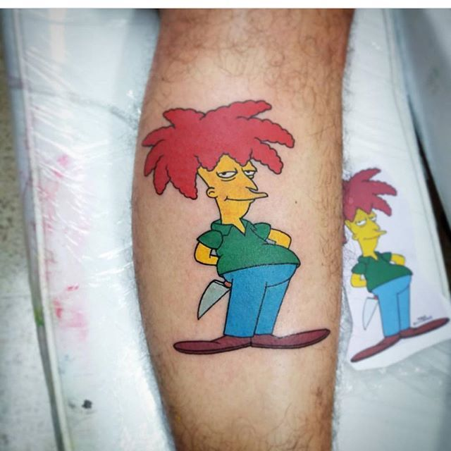 "@jeisson_odink "" ""Let's not tarry. As Shakespeare said, ""If it were done when 'tis done, then 'twere best it were done quickly."" ------------------------------------------ #thesimpsonstattoo #thesimpsons #simpsonstattoo #simpsons #tattoo #moe #inked #tat #tattyslip #simpsonsfan #homer #bart #lisa #maggie #marge #mattgroening #futurama #cartoontattoo #cartoontats #epictattoo #simpsonstat"