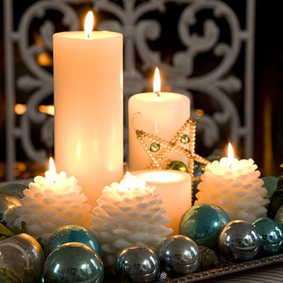 Vintage-Inspired Christmas Decorating | Vintage christmas candles ...