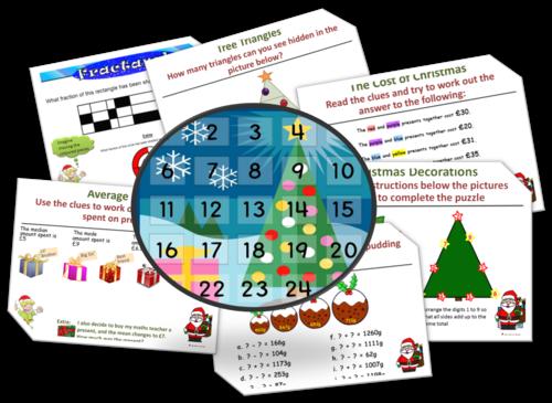 Christma(th)s - Christmas Maths Advent Starter Calendar. A selection ...