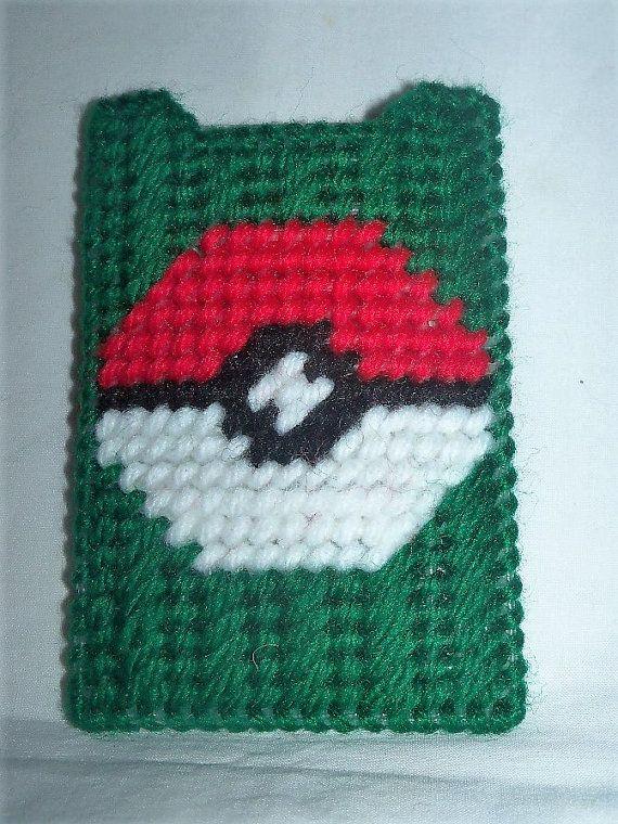 Pokemon Pokeball Gift Card Credit Card Holder Plastic Canvas