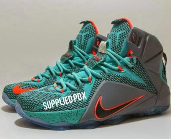 Nike LeBron 12 Miami Dolphins Detailed