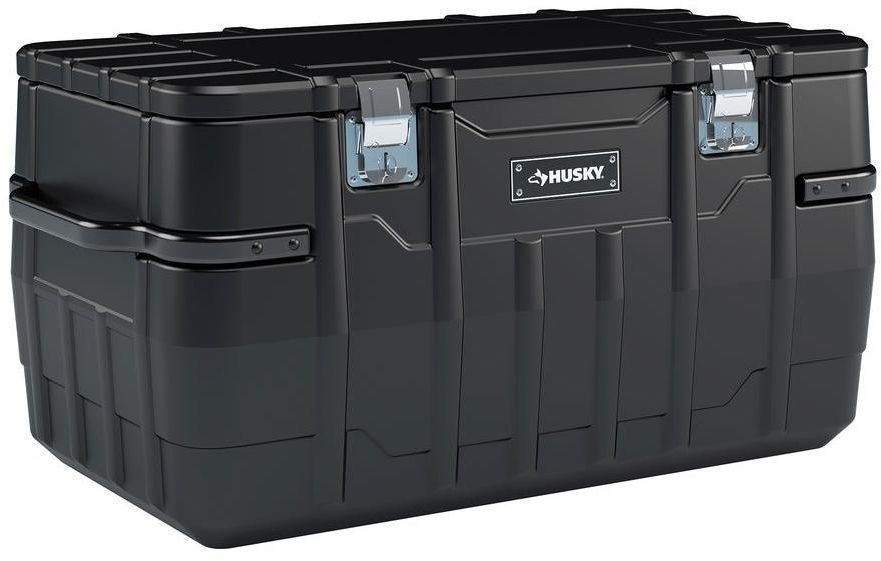 Husky 100 Gallon 48 In Portable Water Resitant Tool Truck Storage Job Box Truck Storage Portable Tool Box Storage