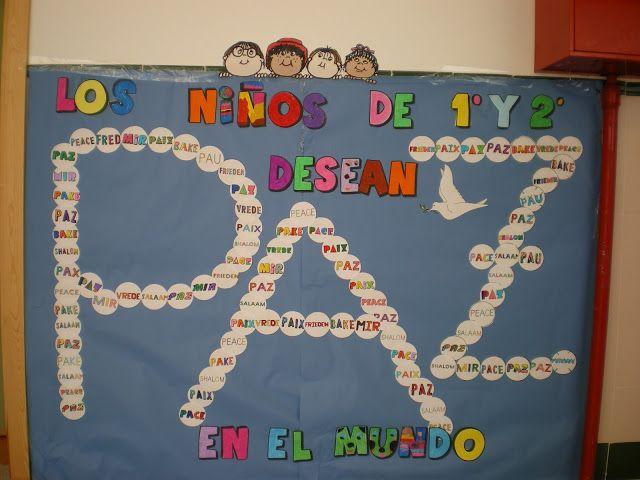 Recursos Y Actividades Para Educación Infantil Actividad Mural Día De La Paz Dia De La Paz Mural De La Paz Paloma De La Paz