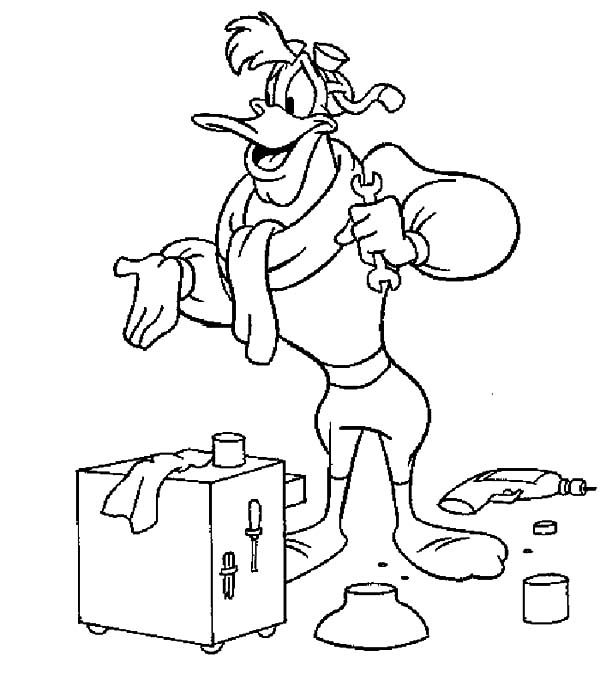 Darkwing Duck From Duck Tales Coloring Pages Jpg 600 686