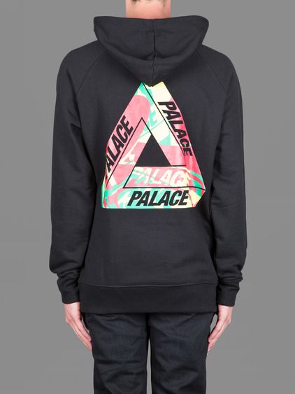 90a1753ab68d Palace Skateboards hoodie with wave rasta back print  clothes  skateboarding