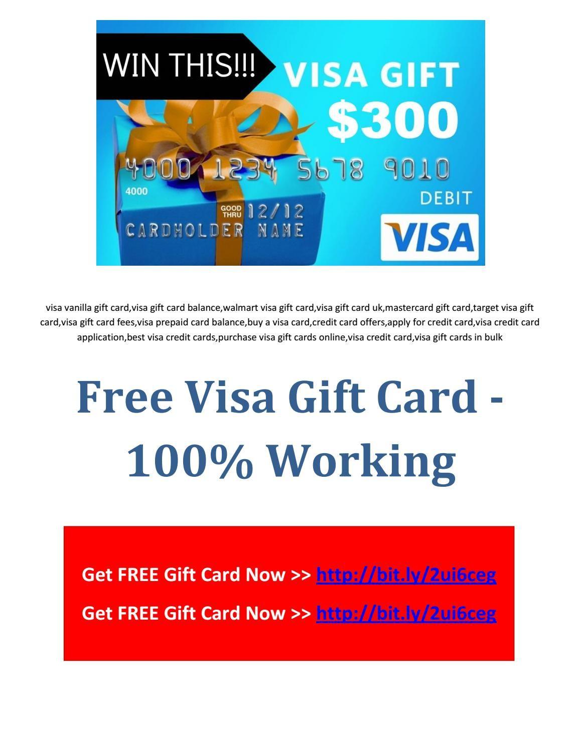 Free Visa Gift Card 100 Working Mastercard Gift Card Visa Gift Card Visa Gift Card Balance