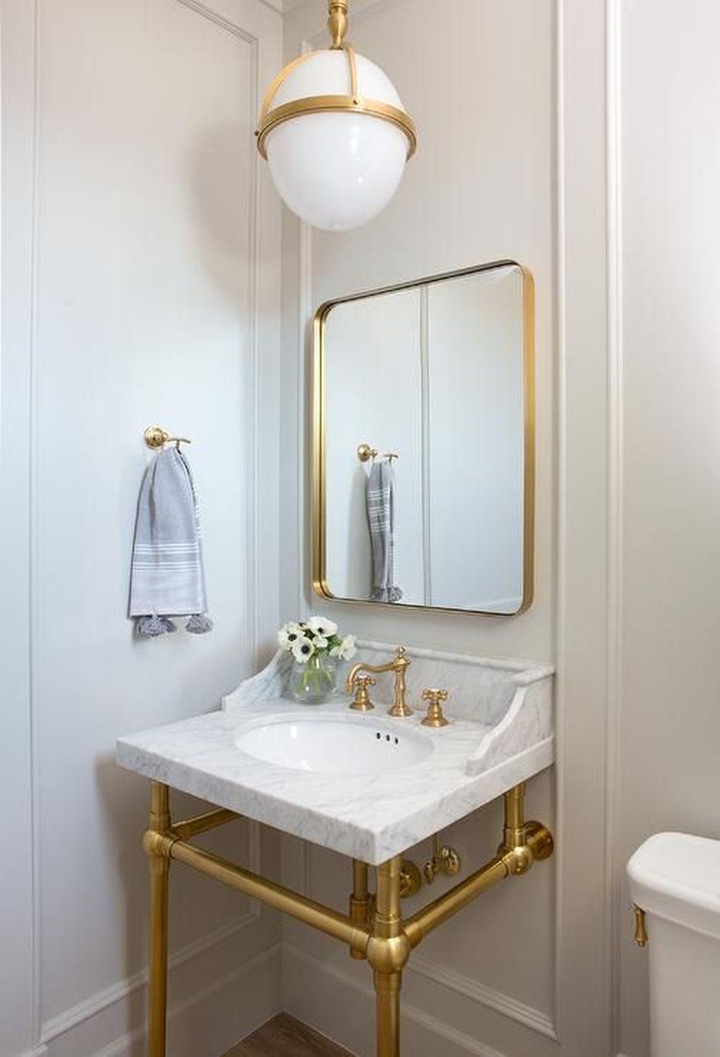 30 Inspiring Small Powder Room Decor And Design Ideas Trenduhome Powder Room Design Powder Room Decor Powder Room Small