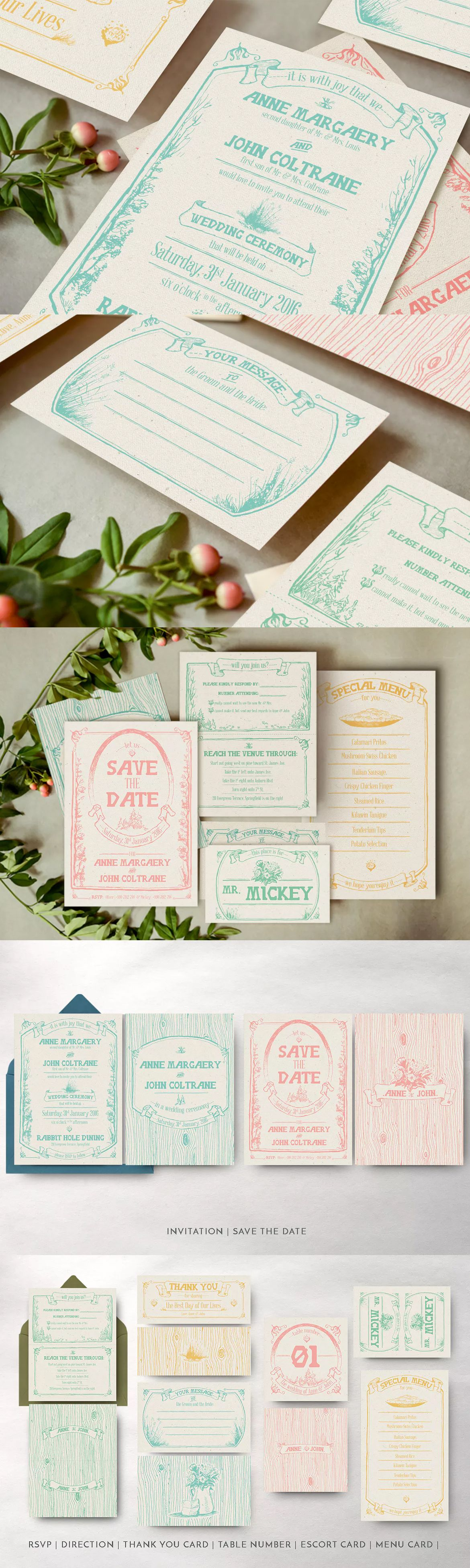 Whimsical forest wedding invitation template ai eps psd inv whimsical forest wedding invitation by august10 on envato elements stopboris Images